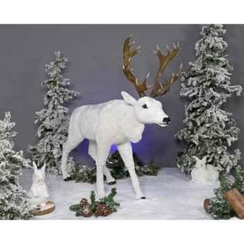 Automate - renne blanc Automate Décoration Noël 814