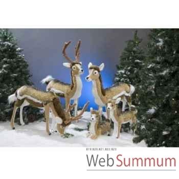 Automate - cerf broutant Automate Décoration Noël 819