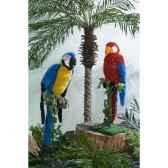 automate perroquet bleu et jaune automate decoration noe839
