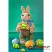 automate lapin de paques avec panier et oeufs automate decoration noe842