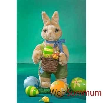 Automate - lapin de pâques avec panier et œufs Automate Décoration Noël 842