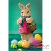 automate lapin de paques avec panier et oeufs automate decoration noe843