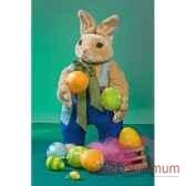 automate lapin de paques avec panier et oeufs automate decoration noe844