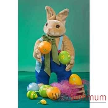 Automate - lapin de pâques avec panier et œufs Automate Décoration Noël 844
