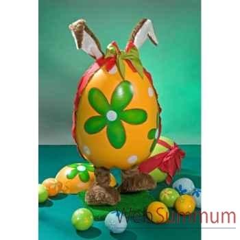 Automate - lapin de pâques dans un œuf Automate Décoration Noël 847