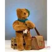 automate teddy bear assis sur une boite automate decoration noe852