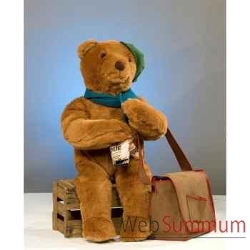 Automate - teddy bear assis sur une boîte Automate Décoration Noël 852