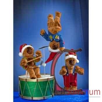 Automate - 3 teddy bears jouant des instruments de musique Automate Décoration Noël 855