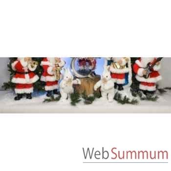 Automate - 2 lapins dansants pour l'orchestre du père-noël Automate Décoration Noël 886