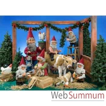 Décor - l'étable du père noël Automate Décoration Noël 116-K