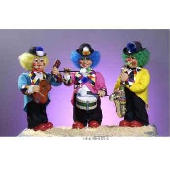 Automate - clown jouant des percussions Automate Décoration Noël 168-B