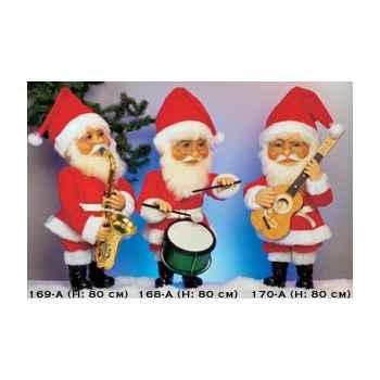 Automate - père-noël jouant de la guitare Automate Décoration Noël 170-A