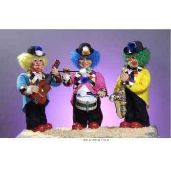 Automate - clown jouant de la guitare Automate Décoration Noël 170-B