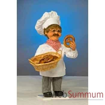 Automate - boulanger avec panier Automate Décoration Noël 171-B