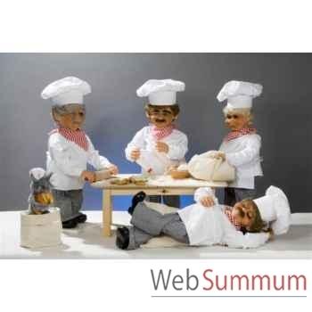 Automate - boulanger avec rouleau à pâtisserie Automate Décoration Noël 177-B