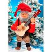 automate pere noejouant de la guitare automate decoration noe182 a