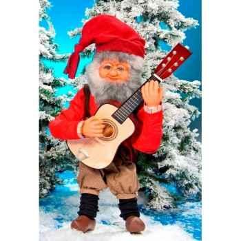 Automate - père-noël jouant de la guitare Automate Décoration Noël 182-A