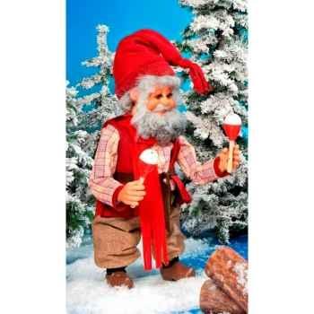 Automate - père-noël jonglant avec des bretzels Automate Décoration Noël 185-A