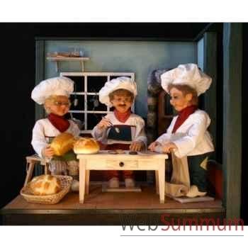 Décor - table pour dans la boulangerie Automate Décoration Noël 197-BB