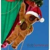 automate teddy bear suspendu a une main automate decoration noe202 d