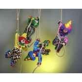 automate clown suspendu a deux mains automate decoration noe203 b