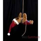 automate teddy bear suspendu a deux mains automate decoration noe203 d