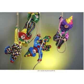 Automate - clown suspendu à la corde d'une cloche Automate Décoration Noël 204-B