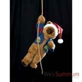 automate teddy bear suspendu a une main automate decoration noe204 d