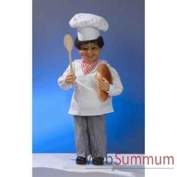Automate - boulanger frappant à la fenêtre, sur une échelle Automate Décoration Noël 207-B