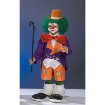 Automate - clown frappant à la fenêtre Automate Décoration Noël 207-C