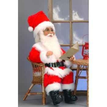 Automate - père noël parlant sur une chaise Automate Décoration Noël 307-AS