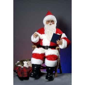 Automate - père noël parlant dans une chaise Automate Décoration Noël 408-AS