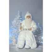 automate pere noeroi des neiges en costume blanc parlant automate decoration noe408 cs