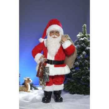 Automate - père noël avec sac Automate Décoration Noël 410-A