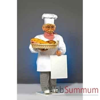 Automate - boulanger avec tableau et panier Automate Décoration Noël 410-B