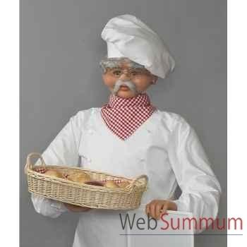 Automate - boulanger avec tableau et panier Automate Décoration Noël 411-B