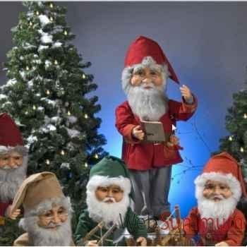 Automate - vieux lutin du père noël parlant Automate Décoration Noël 556-AS