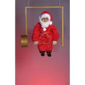 Automate - père noël sur trapèze Automate Décoration Noël 56-A
