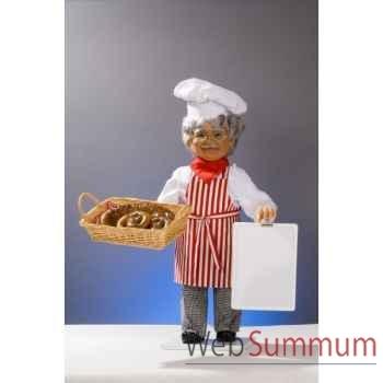 Automate - boulanger avec tableau et panier Automate Décoration Noël 604-B