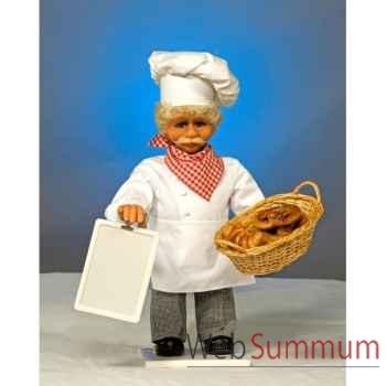 Automate - boulanger avec tableau et panier Automate Décoration Noël 637-B