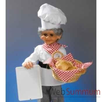 Automate - boulanger avec tableau et panier Automate Décoration Noël 757-B