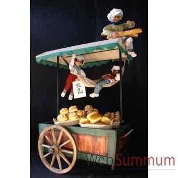 Décor - chariot à fruit ou pain Automate Décoration Noël 760-K