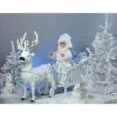 automate renne blanc et traineau du pere noeautomate decoration noe824 1