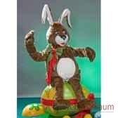 automate lapin de paques assis sur un oeuf automate decoration noe845 d