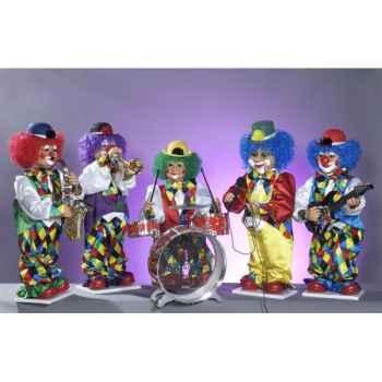 Automate - orchestre de clowns (5 personnages) Automate Décoration Noël 885-B