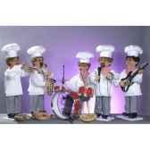 automate orchestre de boulangers 5 personnages automate decoration noe885 c