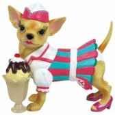 figurine chien chihuahua chi chi marchande de glace 13755