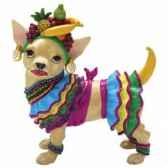 figurine chien chihuahua chi chi ecossaise 13387