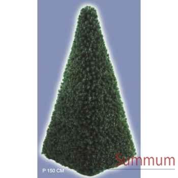 Sapin de noël géant professionnel pyramide de 1m à 13m structure acier branches sapins
