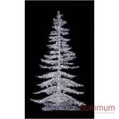 sapin de noegeant professionnecrystalumineux argent led blanc scintillant de 530m a 7m